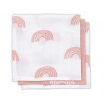 Jollein Hydrofiele Monddoekjes Rainbow Blush Pink 3pck