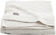 Jollein Deken River Knit Cream White   75 x 100 cm