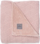 Jollein Deken River Knit  Pale Pink/Coral Fleece   75 x 100 cm
