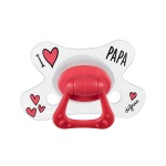 Difrax Fopspeen I Love Papa Natural 12 mnd+