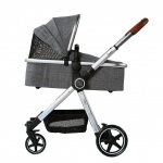 Beeyu Kinderwagen Cross Light Grey Melange