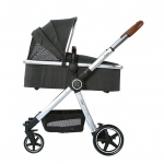 Beeyu Kinderwagen Cross Dark Grey Melange