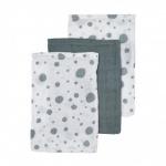 Meyco Hydrofiele Washandjes 3pack  Dots Stonegreen