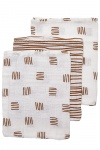 Meyco Washandjes Block Stripe Camel 3pck