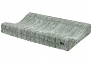 Meyco Waskussenhoes Block Mixed Stone/Forest Green