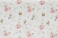 Cottonbaby Wieglaken Cottonflower Wit  75 x 90 cm