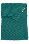 Meyco Deken Waves Emerald Green  100 x 150 cm