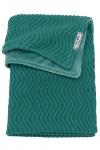 Meyco Deken Waves Velvet Emerald Green  100 x 150 cm