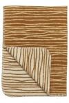 Meyco Deken Stripe Camel/Offwhite  75 x 100 cm