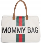 Childhome Mommy Bag Groot Offwhite Stripes Green/Red