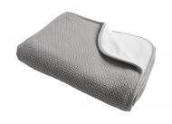 Ledikantdeken Winter Pique Mid Grey 100 x 150 cm