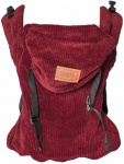 ByKay Click Carrier Classic Ribbed Velvet Berry Red