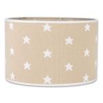 Baby's Only Lampenkap Stars Beige 30 cm