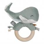 Little Dutch Walvis Houten Ringrammelaar Ocean Mint
