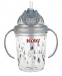 Nuby Tritan Flip-It Antilek Beker Grijs 240ml 12mnd+