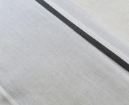 Jollein Laken Wit Met Bies Antraciet 120 x 150 cm