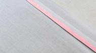 Jollein Laken Wit Met Bies Roze  120 x 150 cm