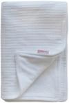 Cottonbaby Wiegdeken Gevoerd Wafel Wit 75 x 90 cm