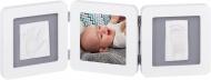 Baby Art Double Print Frame White&Grey