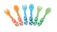 Munchkin Multi-Coloured Fork & Spoons 12mnd+ (6 Stuks)