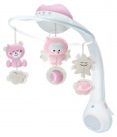 Infantino Watch Over Me 3in1 Projector Musical Mobile Pink