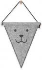 Jollein Vlag Vilt Bear Grey 25 x 30 cm
