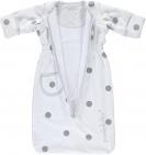 Puckababy Bag Newborn White Dotty 0-6 mnd