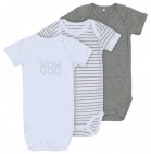Name It Romper Korte Mouw 3-Pack Grey Melange