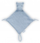 Knuffeldoek Soft Knit Hippo Soft Blue