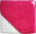 BD Collection Babycape Wit / Fuchsia