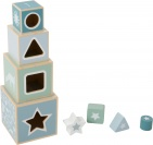 Little Dutch Houten Stapelblokken Blauw