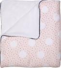 Petit Juul Ledikantdeken Pink Dot/ Cream Teddy 100 x 140 cm