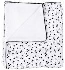 Petit Juul Ledikantdeken Black Triangle/ White Teddy 100 x 140 cm