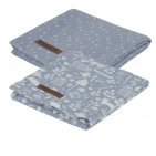 Little Dutch Swaddle 2Stuks Adventure Blue  70x70