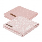 Little Dutch Swaddle 2Stuks Adventure Pink  70x70