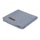 Little Dutch Swaddle Sprinkles Blue  120 x 120