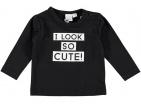 Babylook T-Shirt So Cute Black