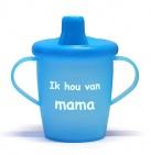 KiddyBoo Anti-Lekbeker I Love Mama Azuurblauw