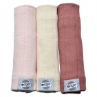 Lodger Swaddler 70x70 Soft Skin/Ivory/Plush 3-pack
