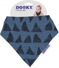Dooky Dribble Bib Blue Tribal