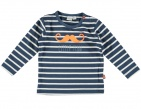 Babylook T-Shirt Stripes Dark Denim