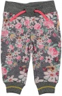 Dirkje Broek Flowers Dark Grey