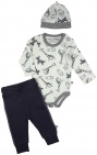Nijntje / Miffy 3-Delige Set Romper Zoo Grey