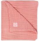 Jollein Deken Wrinkled Hydrofiel Coral Pink 75x100