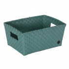 Handed By Bibbona Open Basket Stone Green