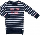 Born To Be Famous Jurk Stripe Navy