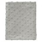 Cottonbaby Ledikantdeken Dot 3D Melee Grijs120 x 150 cm