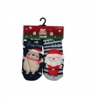 Sarlini Antislip Sok Kerstman/ Beer 2-Pack