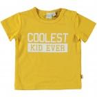 Babylook T-Shirt Korte Mouw Coolest Kid Ocre