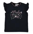 Babylook T-Shirt Korte Mouw Love Navy